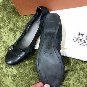 Coach Shoes - 💞Coach Chelsey Mat Calf black ballet flat